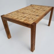 3. wooden table art